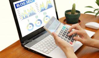 ブログSEOを電卓で計算する画像